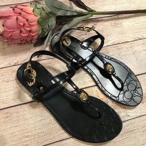 NWT Coach black size 7 Pier sandals